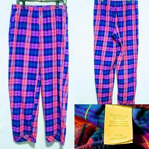 💕Victoria's Secret Plaid Pajama Pants size M long
